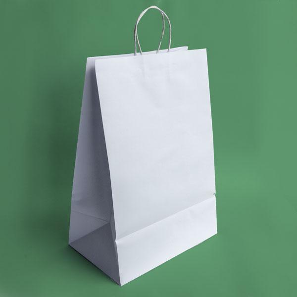 Bolpack - Bolsa de papel bond con asa blanco